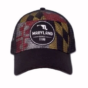Maryland Mesh Flag Patch Hat - NEW